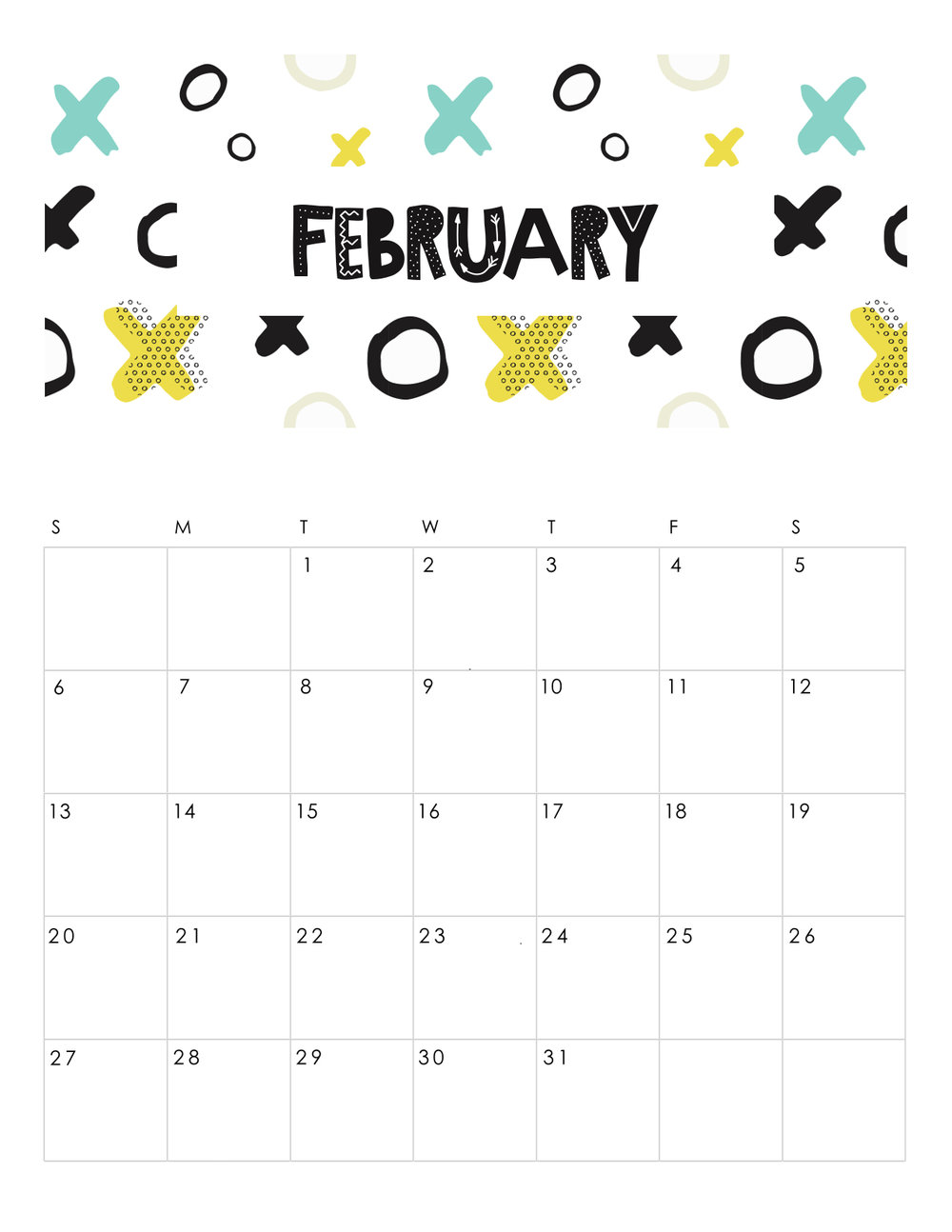 free-printable-abstract-patterned-calendar-february-2019.jpg