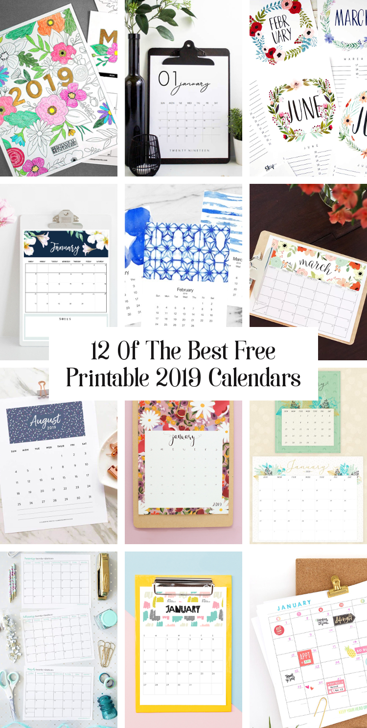 12 of the best free printable calendars for 2019 gathering beauty