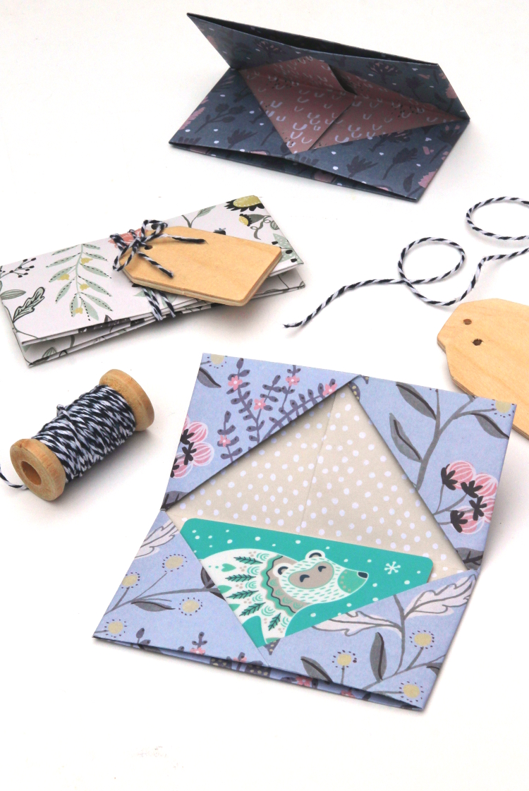 LEARN HOW TO MAKE AN ORIGAMI GIFT CARD ENVELOPE.