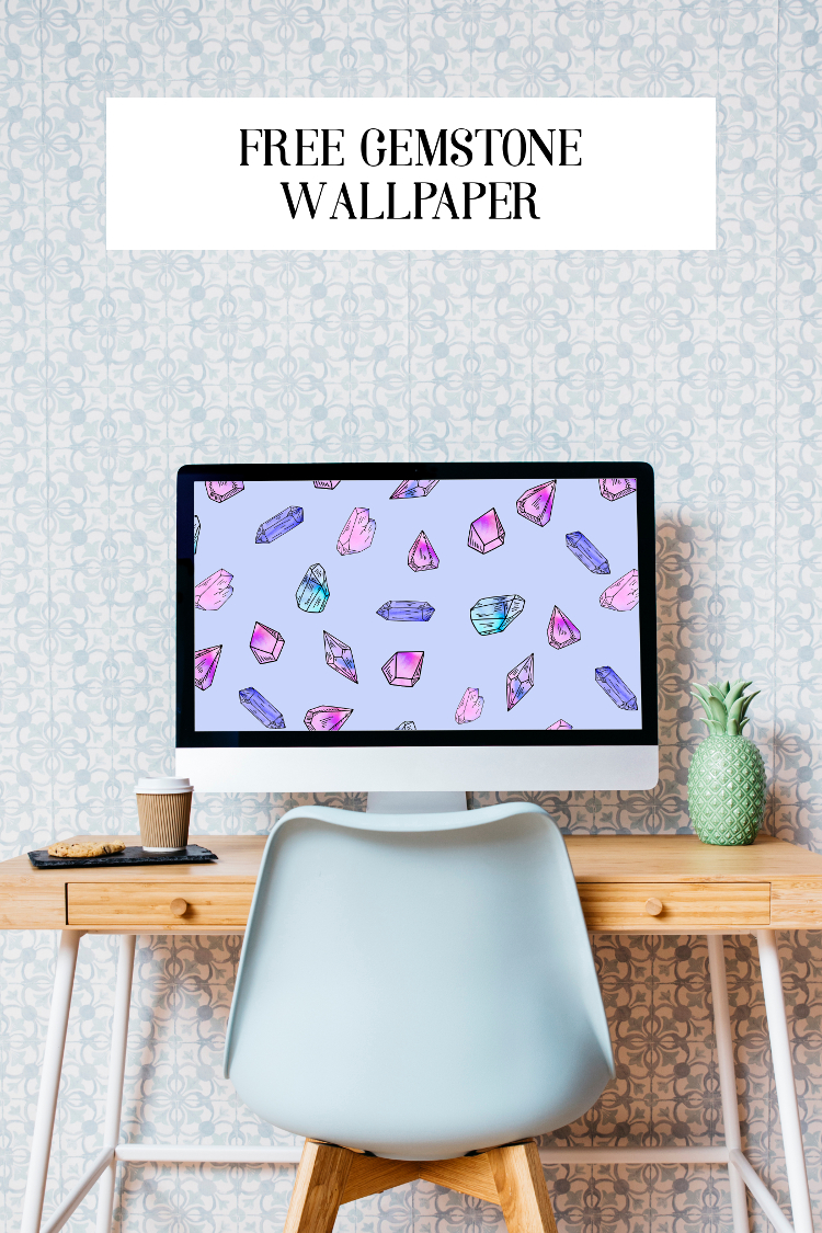 Add a little bling to your desktop or phone with this free watercolour crystal gemstone wallpaper #desktopwallpaper #phonewallpaper #background #gemstones #crystals #wallpaper #gatheringbeauty