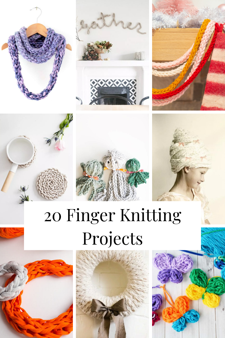 20 Fantastic Finger Knitting Projects Gathering Beauty