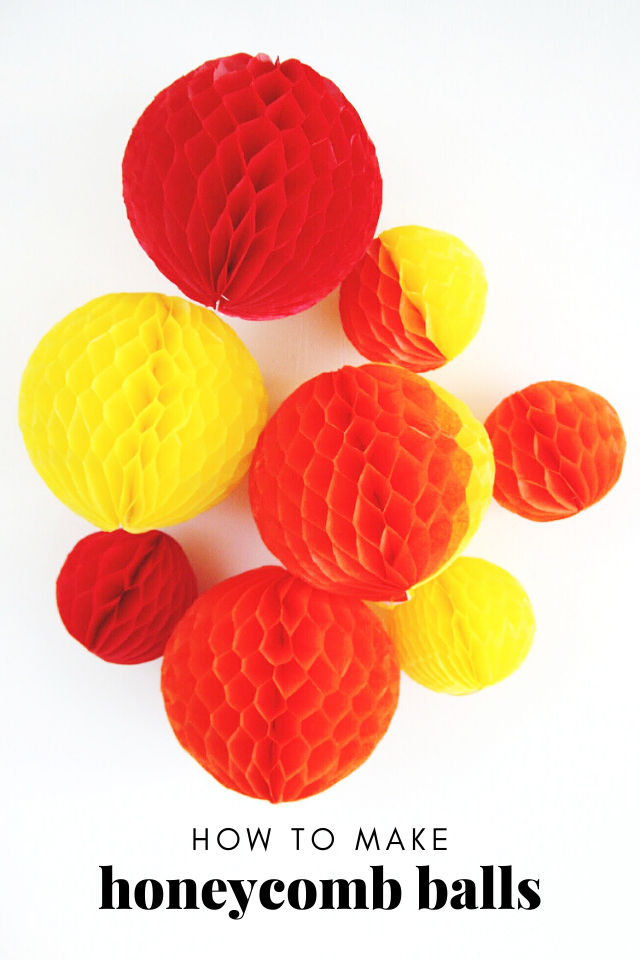 Learn How To Make Your Own Diy Honeycomb Pom Poms Using Tissue Paper