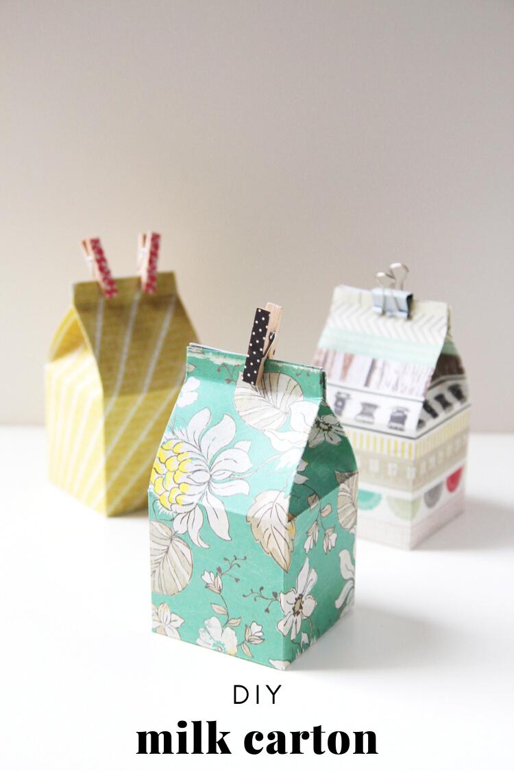 Learn How To Cut Fold And Score Diy Mini Milk Carton Gift