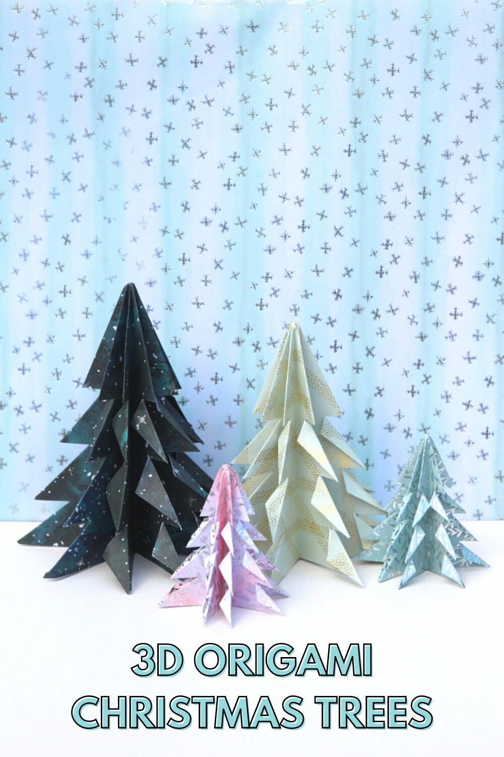 Christmas Origami.How To Make Easy Origami Christmas Trees Gathering Beauty