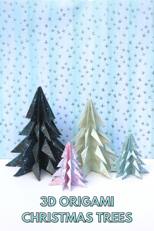 Easy Origami Christmas Trees Gathering Beauty