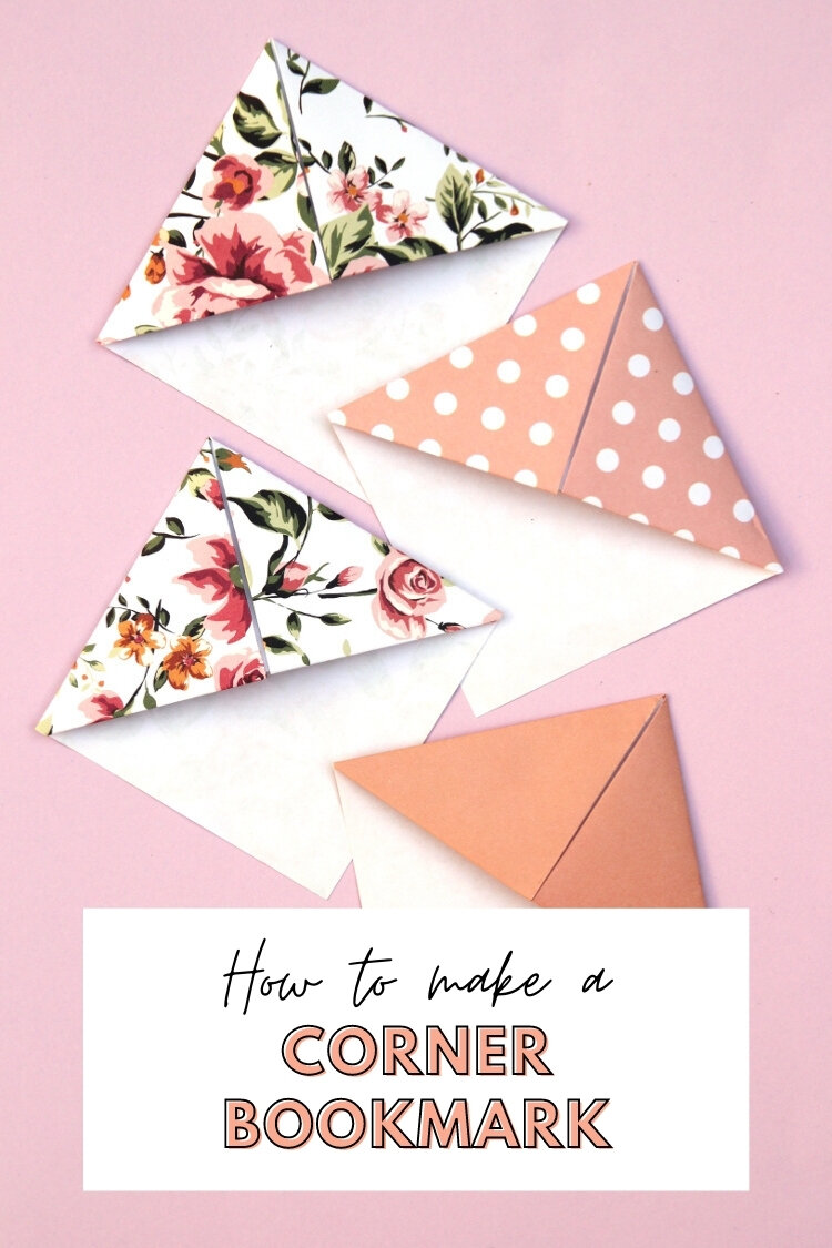 Make your own origami corner bookmarks gathering beauty learn how to fold your own origami triangle corner bookmarks and never lose your page again mightylinksfo