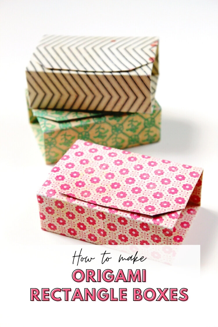 Learn How To Make Rectangular Origami Gift Boxes Box Giftbox Papercrafts