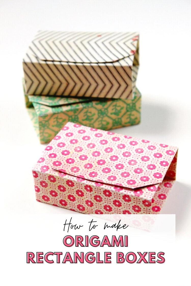 rectangular diy origami boxes gathering beauty