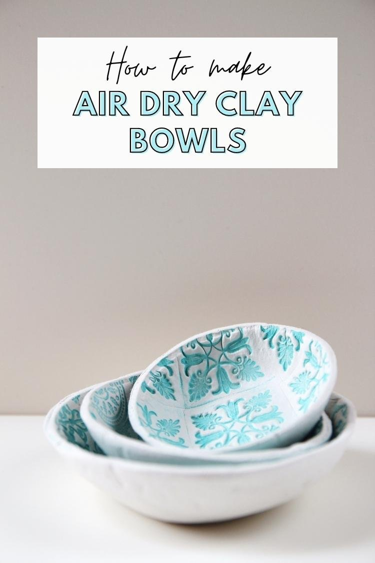 How To Make Diy Air Dry Clay Bowls Gathering Beauty