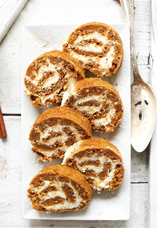 http://minimalistbaker.com/vegan-gluten-free-pumpkin-roll/