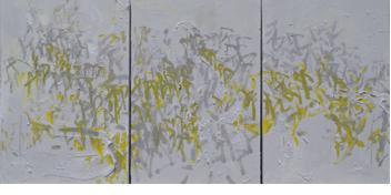 Wild Congaree, 36x72, mixed media on canvas