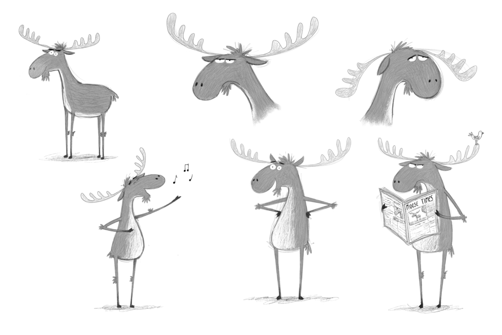 Original moose character concepts