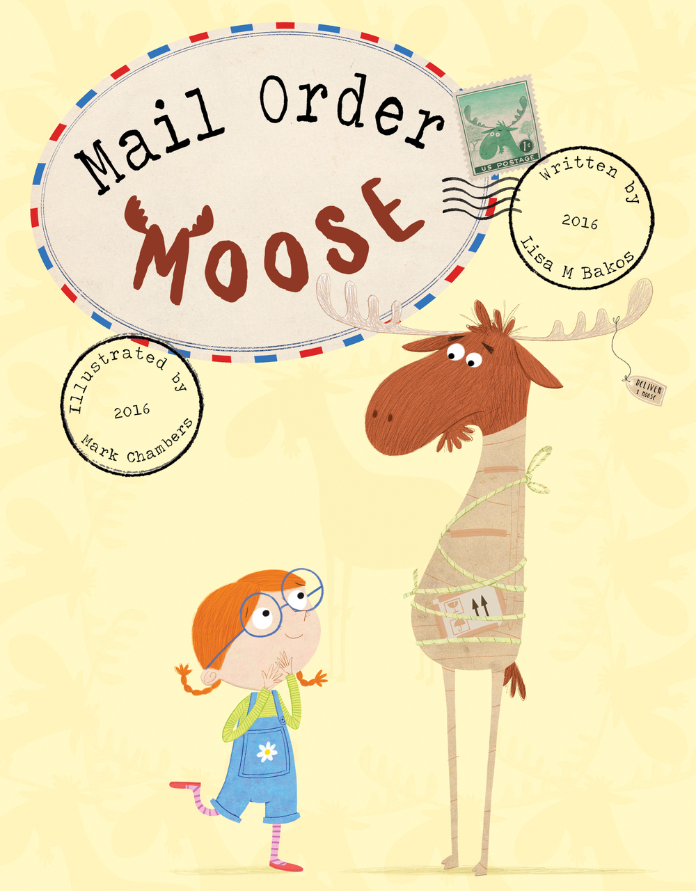 Going to art with the chosen design, everyone felt the moose looked a bit unhappy at being wrapped up in a load of parcel tape (wouldn't you be too?) also Martha needed to look happier and more animated to express her joy at receiving her first moose.