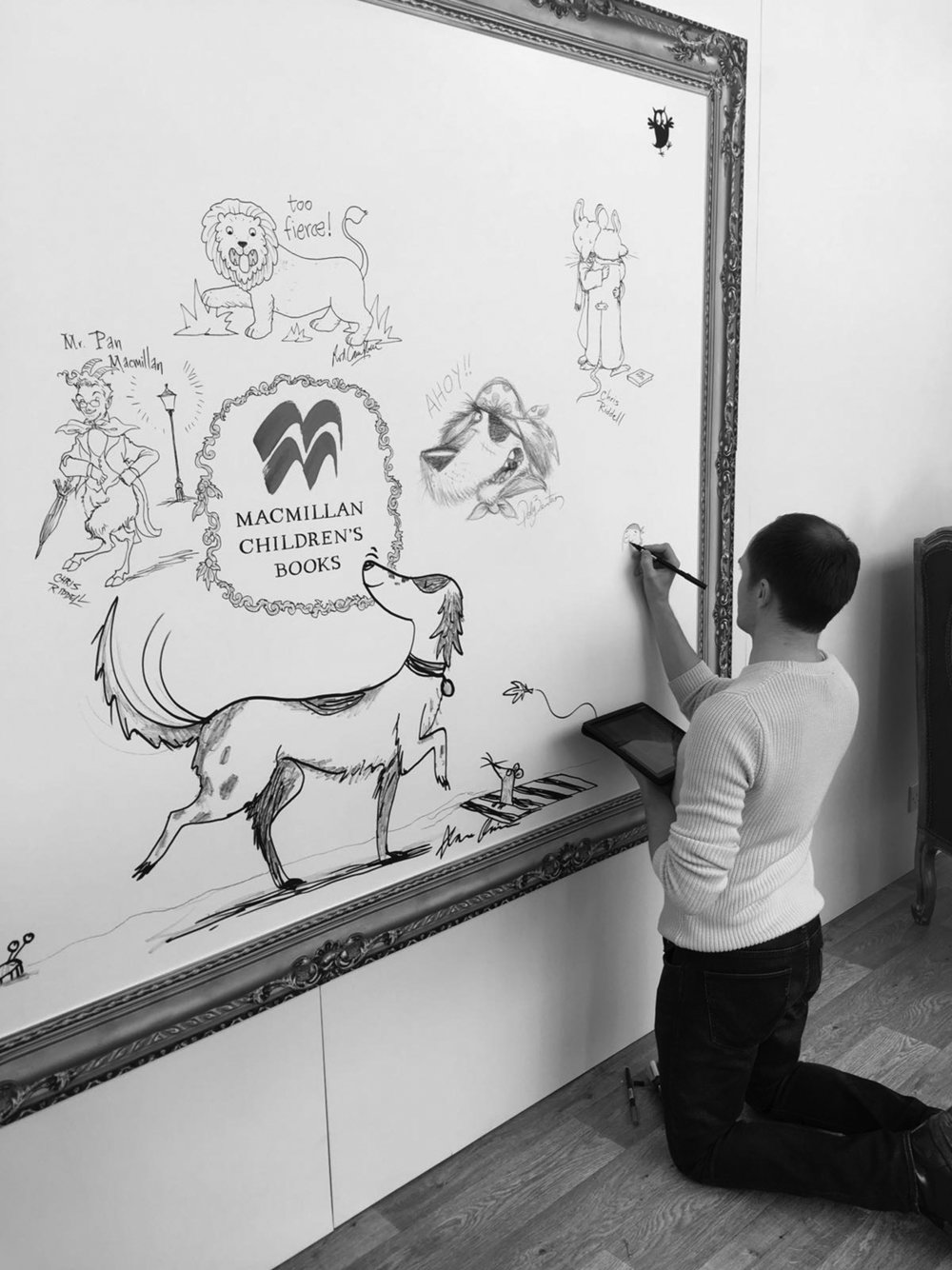 Drawing on the Macmillan stand at the Bologna Children's Book Fair 2017