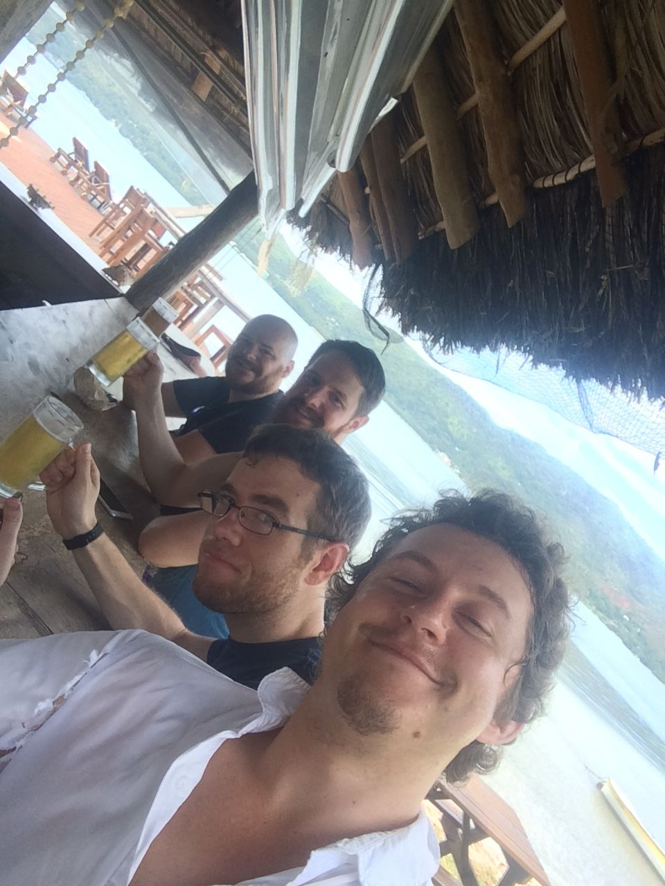 David Von Runkel, Ryan McCausland, Andy Ham, myself take it easy in the Seychelles.