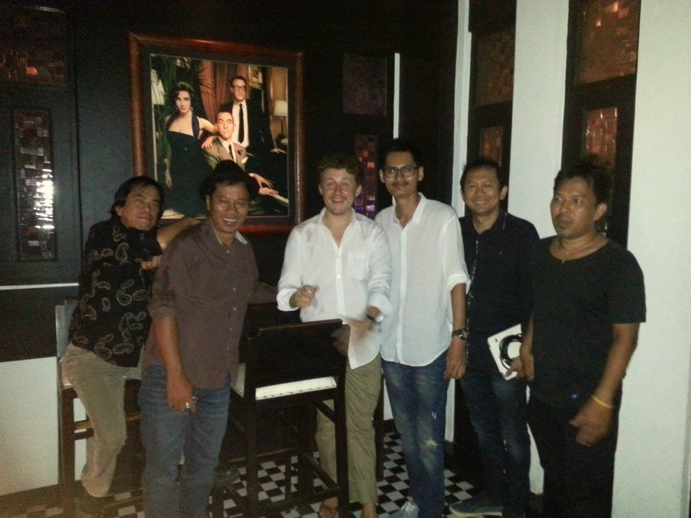 Sitting in at the jazz club in Phuket