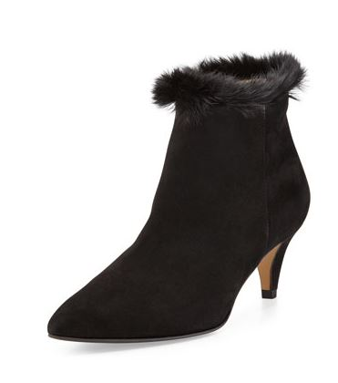 Aquitalia Suede Faux Fur Lined Ankle Boot