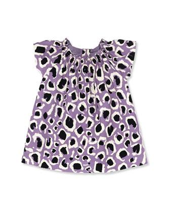 Leopard print lilac dress - 12m - 3T, Bergdorf Goodman