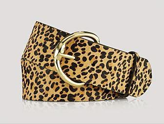 Ralph Lauren leopard print belt (wide), Bloomingdales