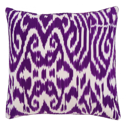 Madeline Weinrib Purple Ikat pillow