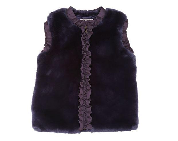 Lanvin - Ruffle trimmed faux fur vest, Barney's New York