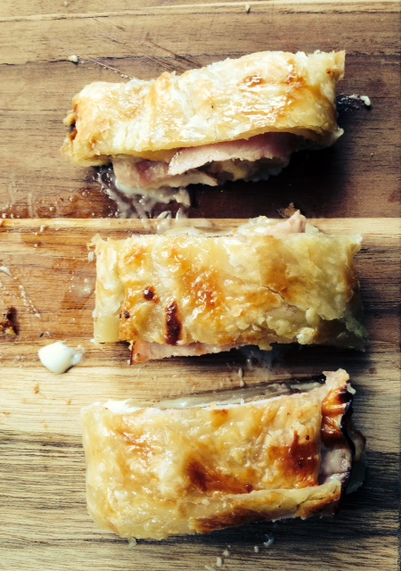 Chicken Cordon Bleu en Phyllo