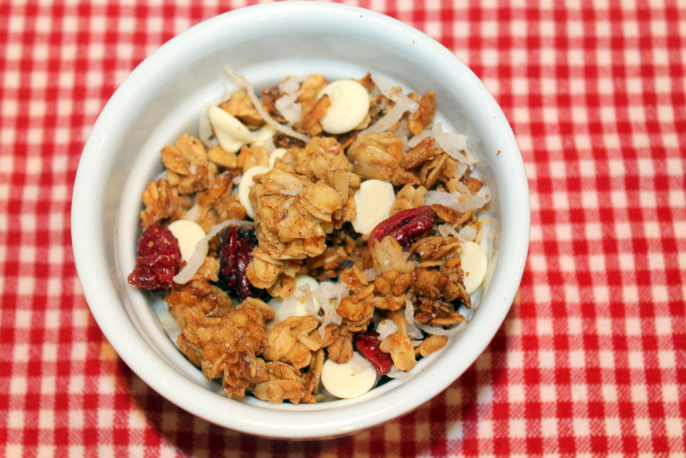 Delicious granola in 5 easy steps - Property of Jessica Gordon Ryan