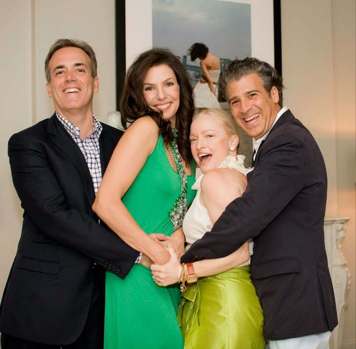 Carla and Jack McDonald and Lulu Powers at a party she hosted for Lulu