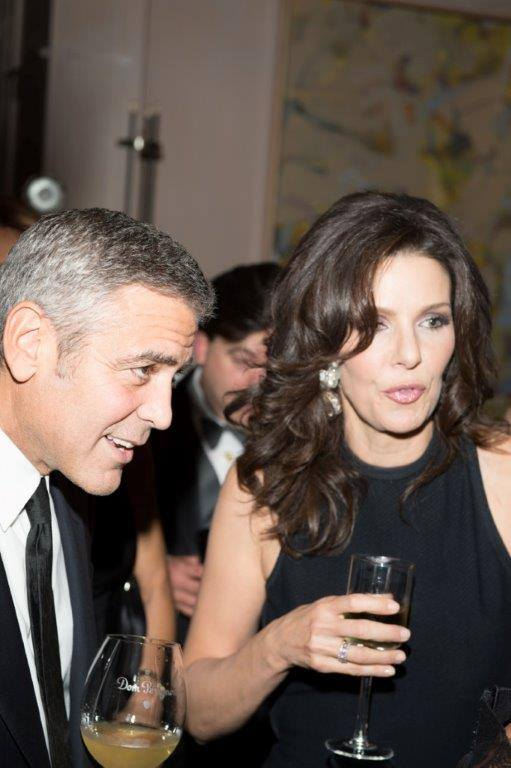 Carla McDonald and George Clooney