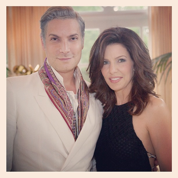 Carla McDonald and Cameron Silver at a party she hosted for him