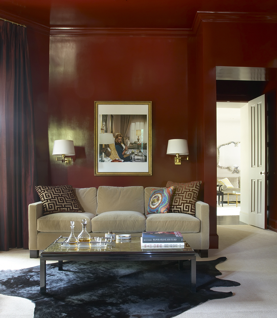 Carla's favorite room, the library