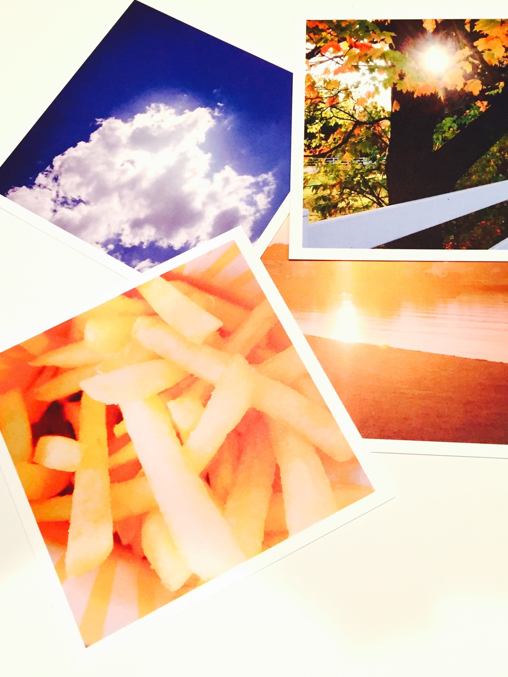 A simple, quickly captured photo takes on a whole new life on these notecards