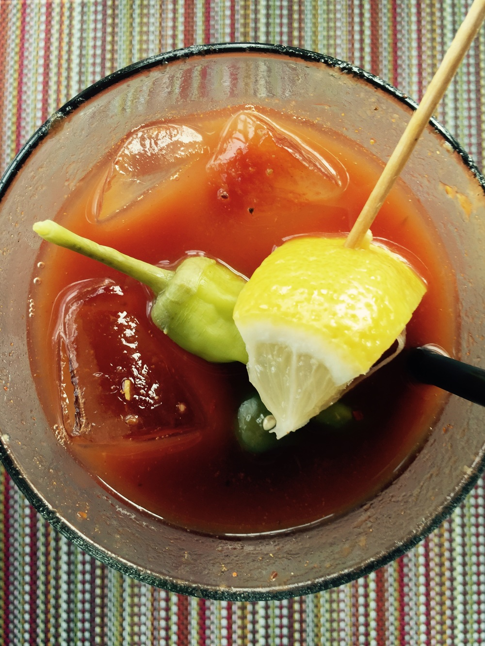 SoNo's Washington Prime's Sunday Brunch Buffet - Try one of their spicy Bloody Marys! Jessica Gordon Ryan