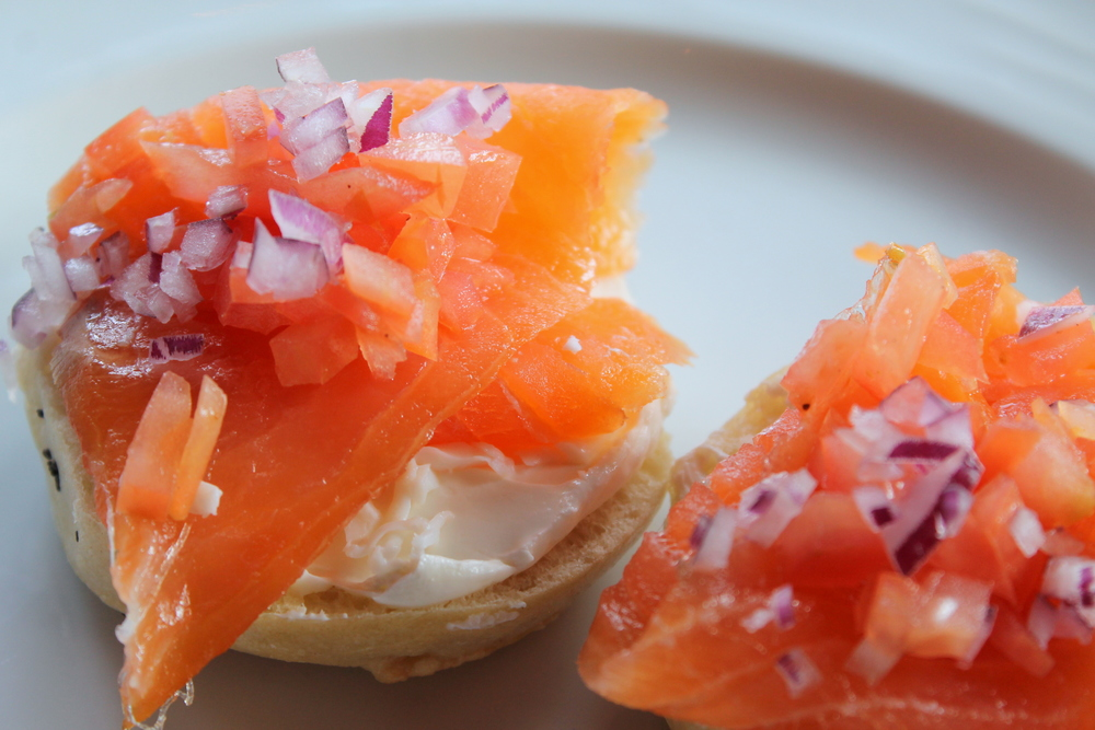 SoNo's Washington Prime's Sunday Brunch Buffet, Mini Bagels and Smoked Salmon Jessica Gordon Ryan