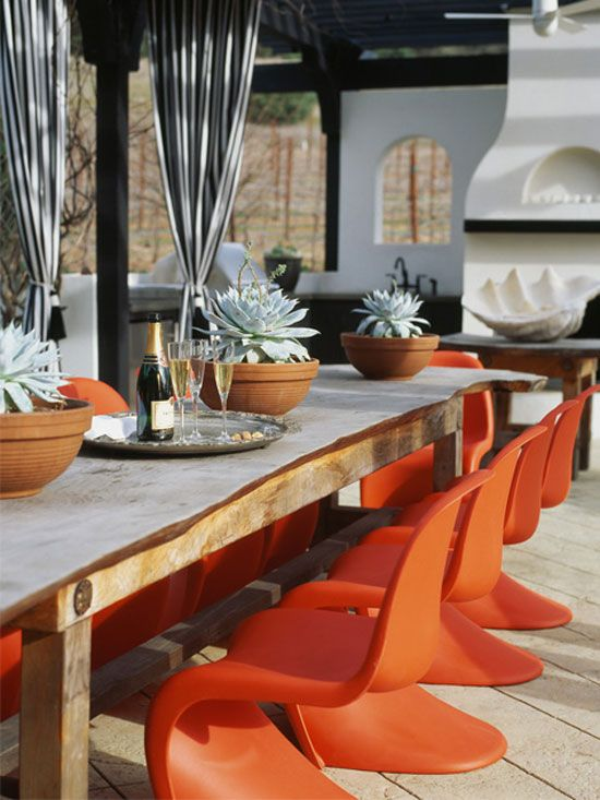 Stylish Notes on Decor :: Orange Crush via Desire to Inspire