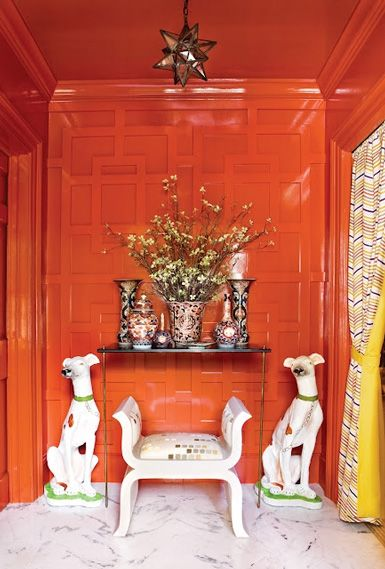 Stylish Notes on Decor :: Orange Crush via Habitually Chic