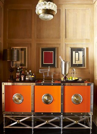 Stylish Notes on Decor :: Orange Crush via Stephen Gambrel