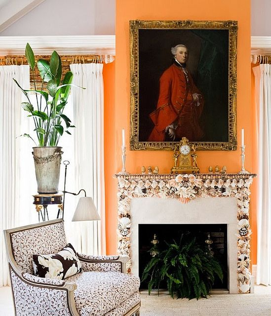 Stylish Notes on Decor :: Orange Crush via This is Glamorous