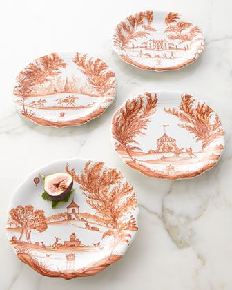 Stylish Notes on Decor :: Orange Crush Plates, Juliska