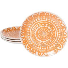 Stylish Notes on Decor :: Orange Crush Plates, Walmart