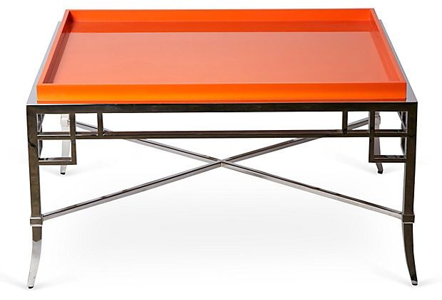 Orange Coffee Table One Kings Lane