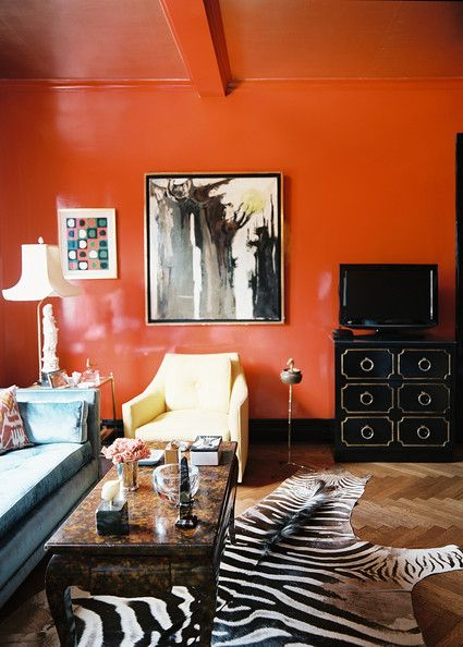 Stylish Notes on Decor :: Orange Crush via Tumblr