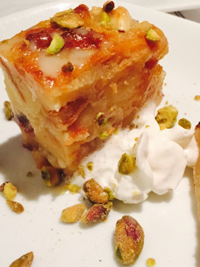 Brick + WOOD, Fairfield CT - White chocolate and cranberry bread pudding Image Jessica Gordon Ryan
