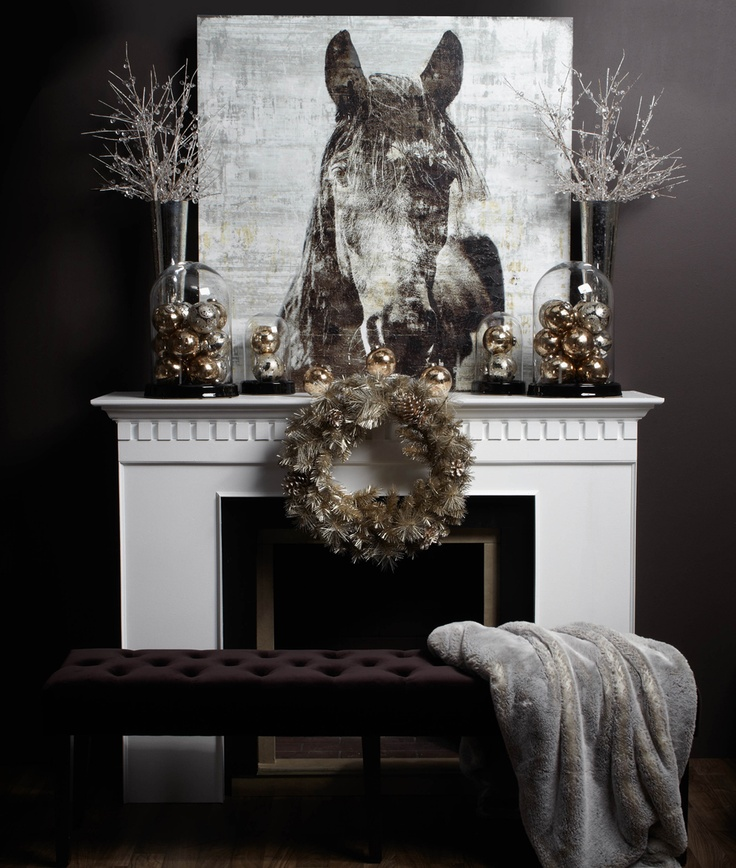 Equestrian Christmas Decor Image via Z Gallerie