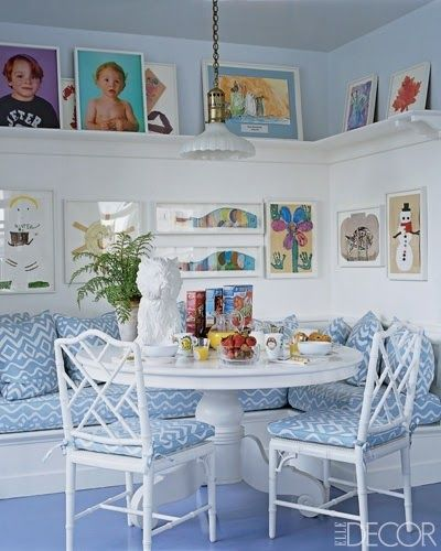 The best way to display your children's artwork  Image via ElleDecor