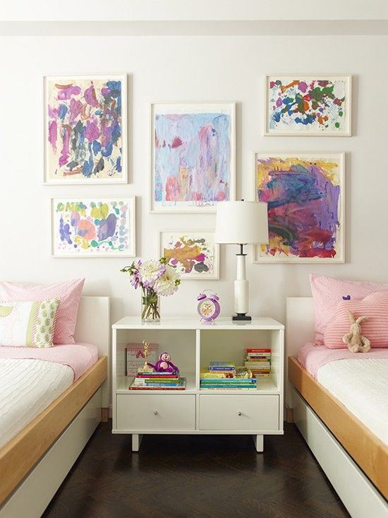 The best way to display your children's artwork Via Hello Bee