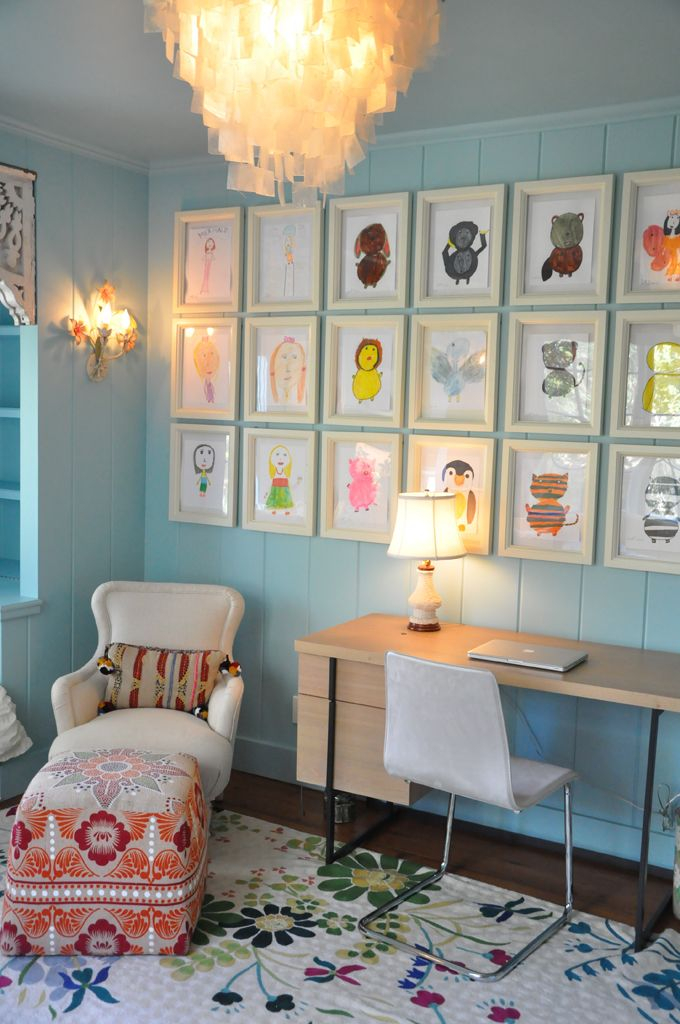 The best ways to display children's artwork Image via Velvet and Linen