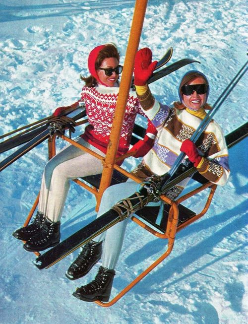 Amazing recycled ski lifts for your home, office or restaurant Image via Etsy