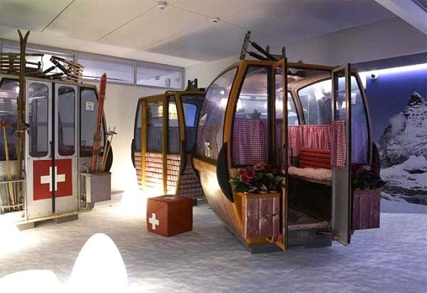 Ski lifts recycled for the workplace - Image via Decoist