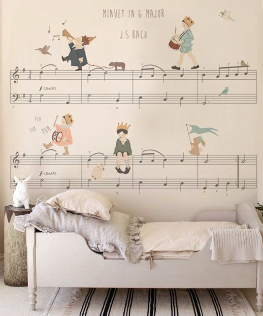Dress your walls with childlike wonder - Image  via